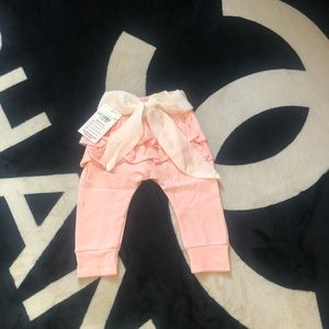 Other - Baby girl ruffles and bow pants